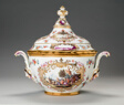 Covered Tureen and Stand (One of a Pair)