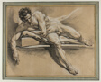 Academic Study of a Reclining Male Nude