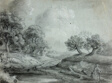 Landscape with Woman and Cows (recto); Sketch of a Landscape (verso)
