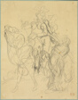 Study for Marphise and the Mistress of Pinabel