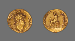 Aureus (Coin) Portraying Emperor Nero