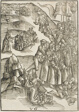 The Agony in the Gardens and Christ's Arrest, plate ten from Passio domini nostri Jesu Christi