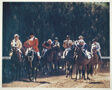 Racehorse: Parade to the Post - Outriders Leading Field of Horses and Stable Ponies to the Post of Hiahleah
