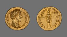 Aureus (Coin) Portraying Emperor Marcus Aurelius