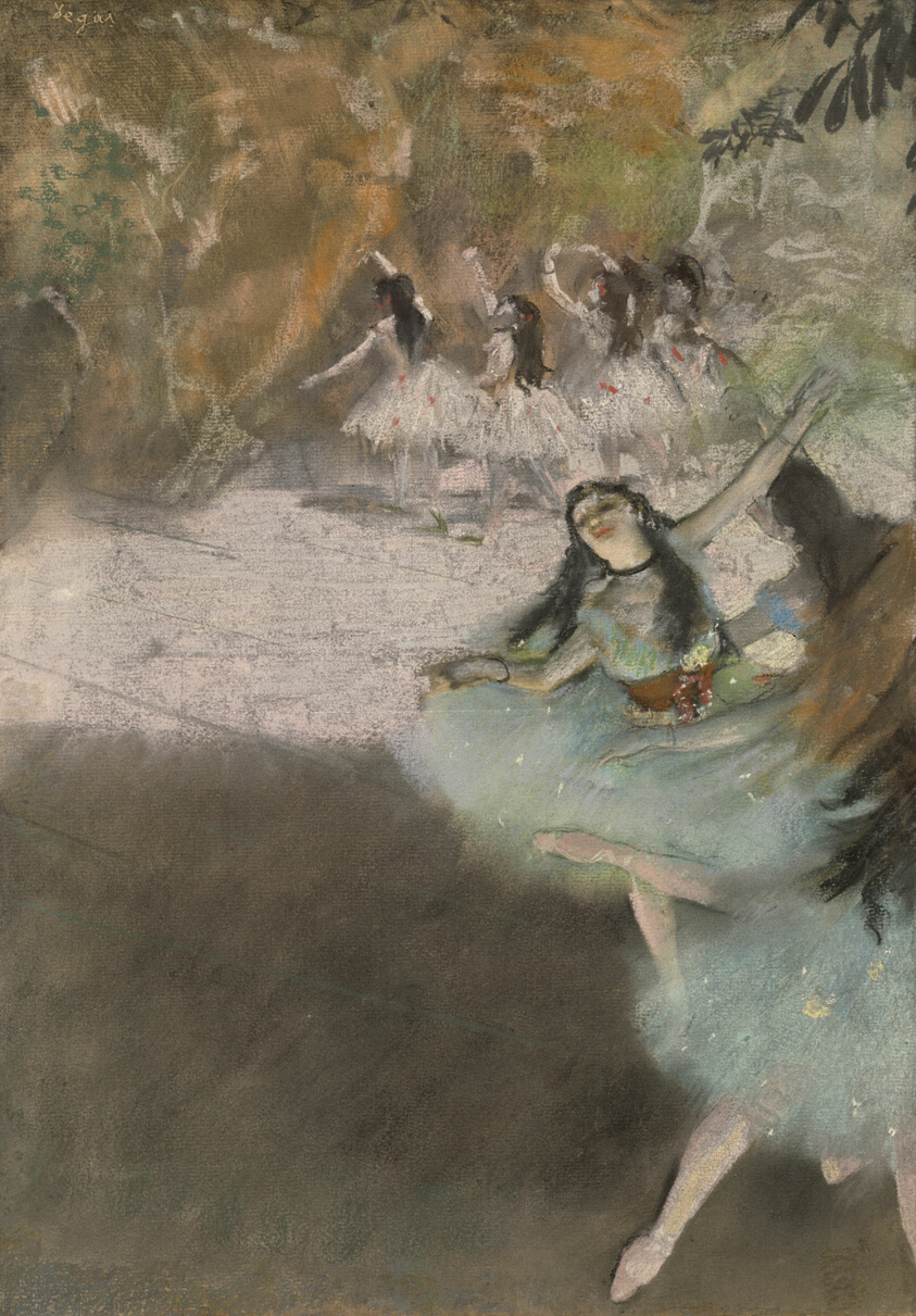 Image result for On the Stage by Edgar Degas, in chicago