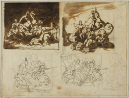 Five Sketches for a Cavalry Battle