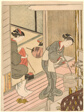"Returning Sails of the Towel Rack (Tenugui-kake no kihan), from the series ""Eight Views of the Parlor (Zashiki hakkei)"""