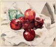 Still Life: Apples and Green Glass
