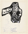 Untitled (Study for Detail of Poster for 1970 St. Xavier College Solo Exhibition)