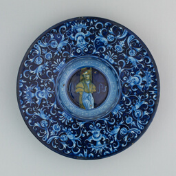 Plate with a Youth