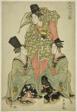 A Fashionable Female Version of the Shikisanban Dance (Furyu onna shikisanban)
