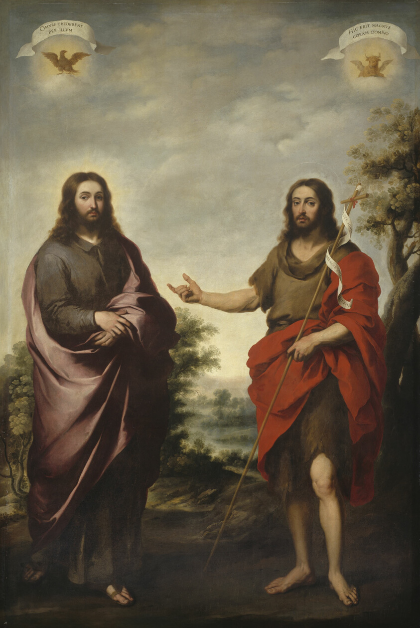 Image result for jesus and john the baptist