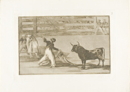 Origin of the harpoons or banderillas, plate seven from The Art of Bullfighting