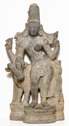 God Shiva as Lord Who Is Half-Male, Half-Female (Ardhanarishvara)