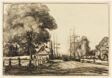 Canal at Quimper (recto); Boats at Entrance to Canal (verso)