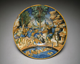 Plate with Horatio at the Bridge