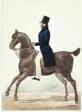 Equestrian Portrait of Man in Profile