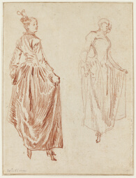 Two Studies of a Dancer, Raising Her Skirt in Her Two Hands