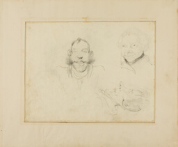 Three Caricatures of Heads