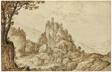 A Castle on a Crag in a Mountainous Landscape