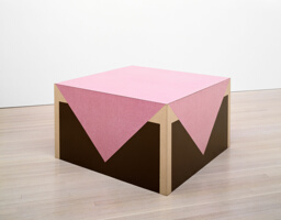 Table with Pink Tablecloth