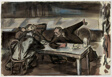 Cafeteria Politicians (recto); Study for Cafeteria Politicians (verso)