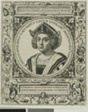 Christopher Columbus, frontispiece from volume 5 of Theodor de Bry's America