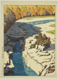"Nezame on the Kiso River (Kiso no Nezame), from the series ""Selection of Views of Japan (Nihon fukei senshu)"""