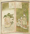 Seiobo (Queen Mother of the West) and tortoise, from an untitled hexaptych depicting a pair of folding screens