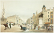 Entry to The Strand from Charing Cross, plate twenty from Original Views of London as It Is