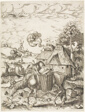 The Donkey Laden with Food, from Emblematic Figures of Animals