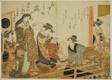 "The Courtesans Utagawa and Nanasato from the Yotsumeya, from the album ""Comparing New Beauties of the Yoshiwara - A Mirror of Their Own Writings (Keisei shin bijin awase jikihitsu kagami)"""