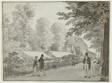 Relais, Avenue des Champs-Élysées, Paris (recto); Scene from the Life of Odysseus (verso)