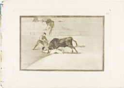 The Unlucky Death of Pepe Illo in the Ring at Madrid, plate 33 from The Art of Bullfighting