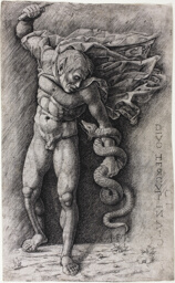 Faun Attacking a Snake