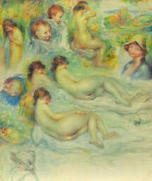 Studies of Pierre Renoir; His Mother, Aline Charigot; Nudes; and Landscape