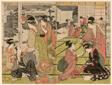 "Act Eleven from the series ""The Chushingura Drama Parodied by Famous Beauties (Komei bijin mitate Chushingura Junimai Kuzuki)"""