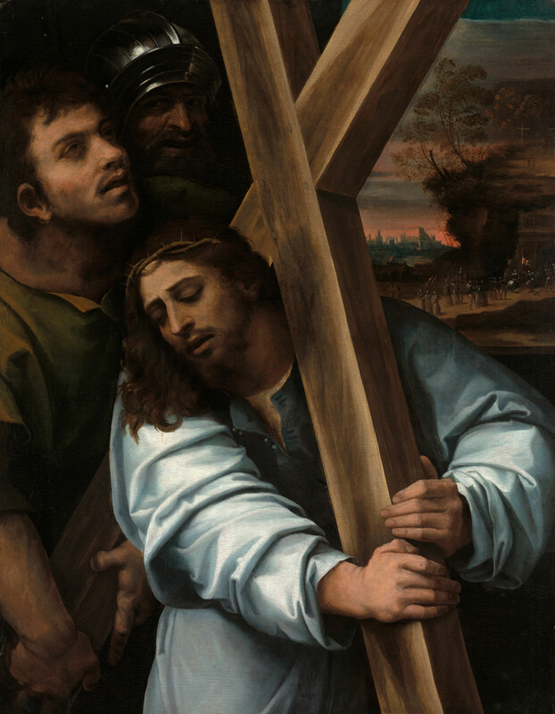 Image result for christ carrying the cross painting