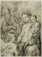 Virgin Feeding Porridge to the Christ Child, with Saint Joseph and Kneeling Angel