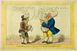 John Bull Perusing the Extraordinary Gazette
