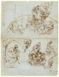 Unfinished Letter with Studies for the Ugolino Group