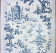 Shakespeare Monument with Fantastic Fountains and Trees (Furnishing Fabric)