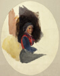 Sketch of Seated Woman in Peasant Costume