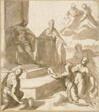 Study for Venice Receiving Homage and Gifts from Brescia, Udine, Padua, and Verona, with Doge Francesco Venier Presenting Them