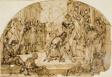 Bishop Blessing a Kneeling Man OR Meeting of Emperor Theodosius and Bishop Ambrose