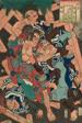 """Kagero: Akushichibei Kagekiyo, from the series """"Japanese and Chinese Comparisons for the Chapters of Genji (Wakan nazorae Genji)"""""""