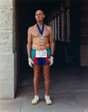 A Man Who Has Just Completed the Los Angeles Marathon, California