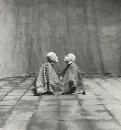 Two Men in White Masks, Cuzco