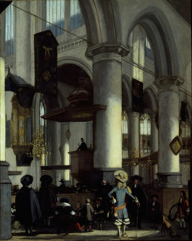 Interior of the Oude Kerk, Delft | The Art Institute of