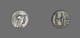 Denarius (Coin) Depicting the Goddess Minerva